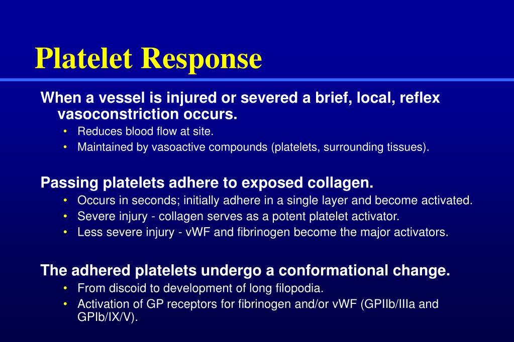 Platelet Response