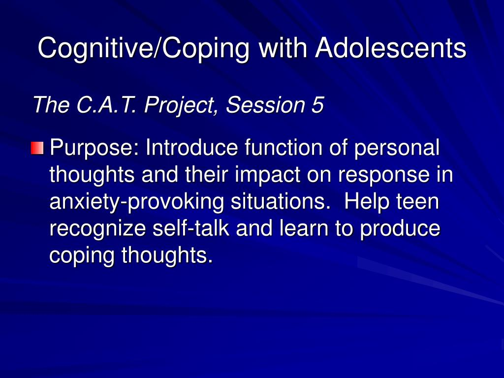 Cognitive/Coping with Adolescents