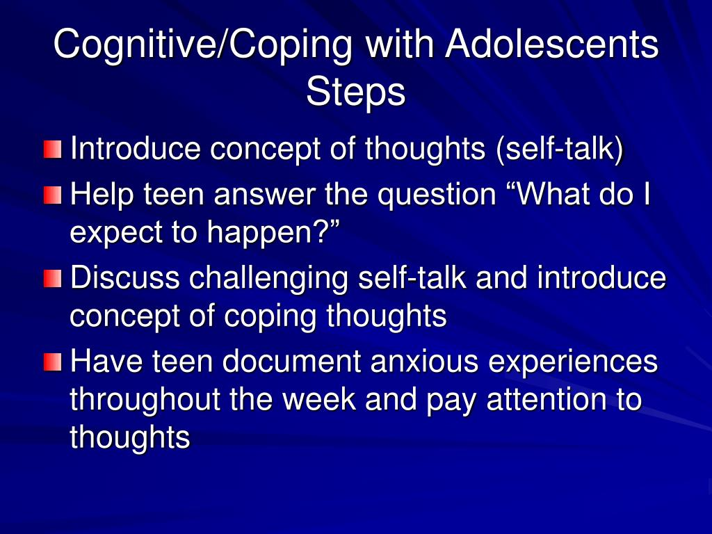 Cognitive/Coping with Adolescents Steps