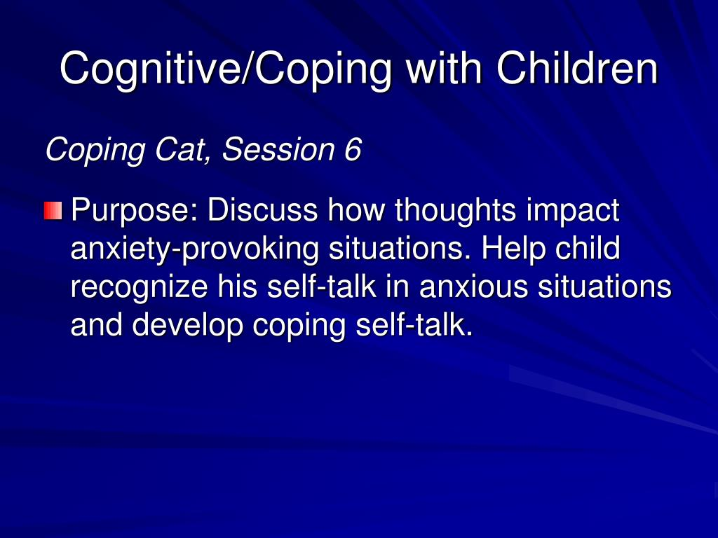 Cognitive/Coping with Children
