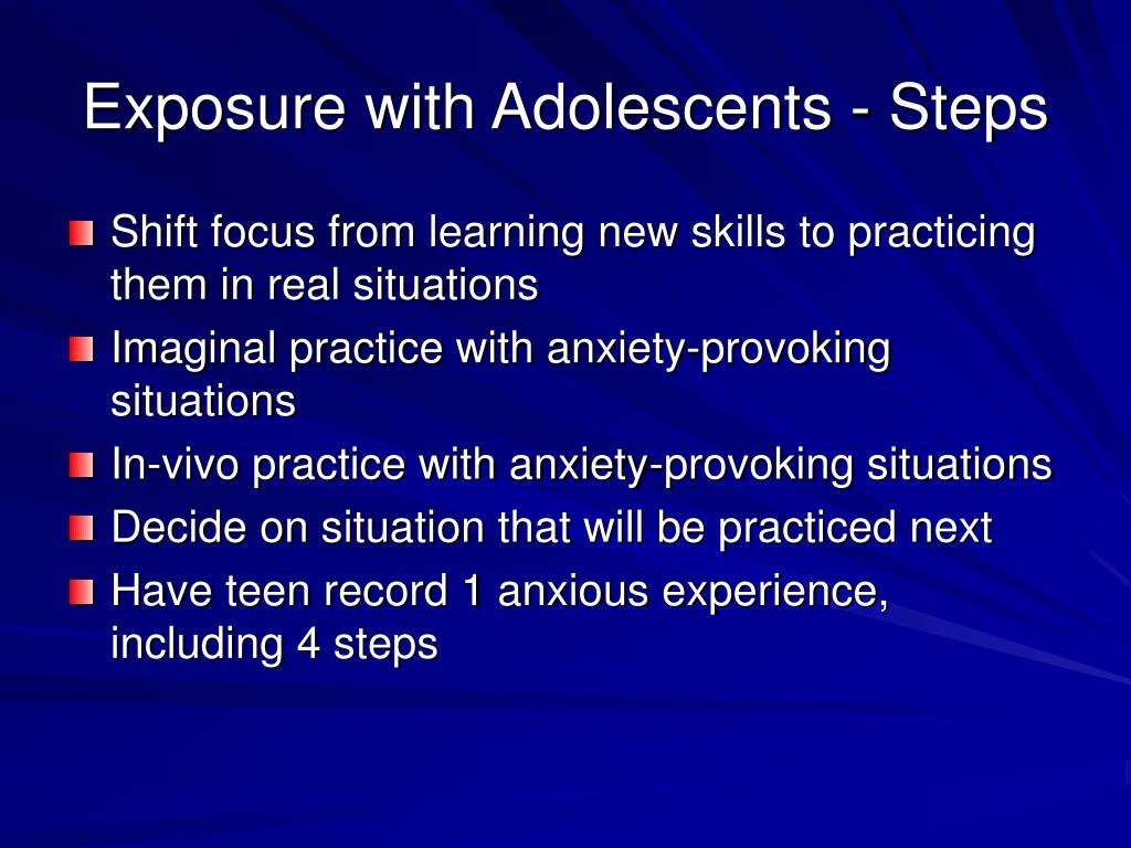 Exposure with Adolescents - Steps