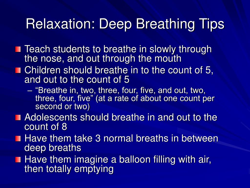 Relaxation: Deep Breathing Tips