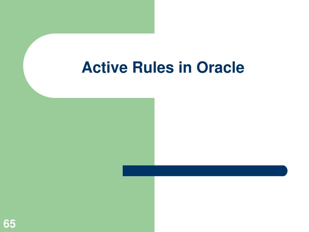 Active Rules in Oracle