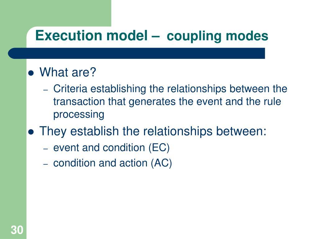 Execution model –