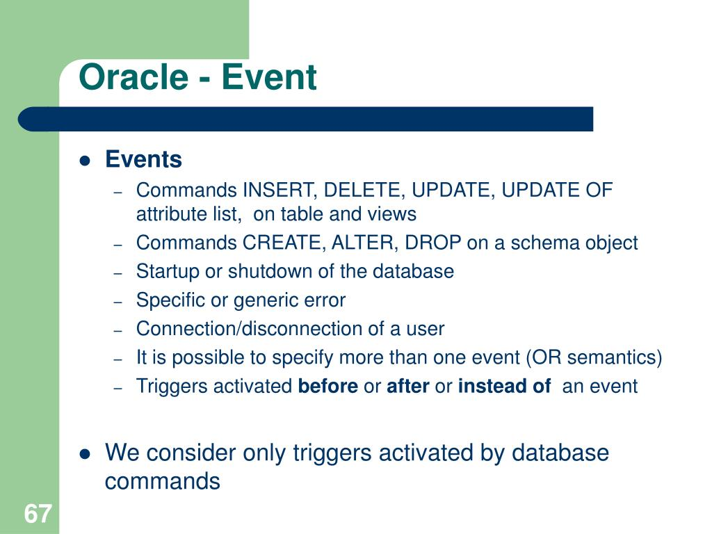 Oracle - Event