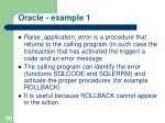 oracle example 176