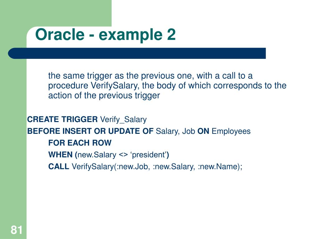 Oracle - example 2