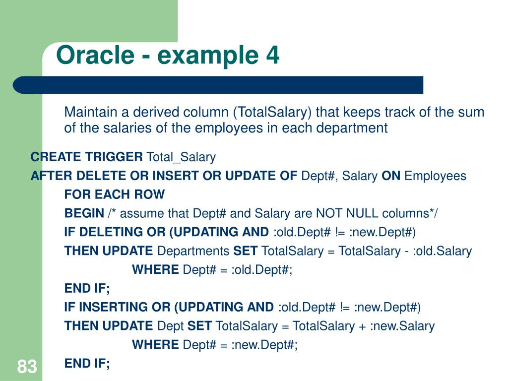Oracle - example 4