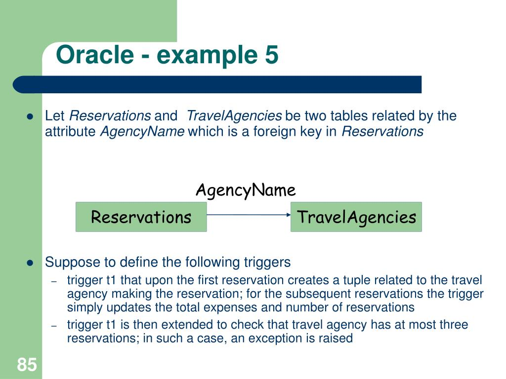 Oracle - example 5