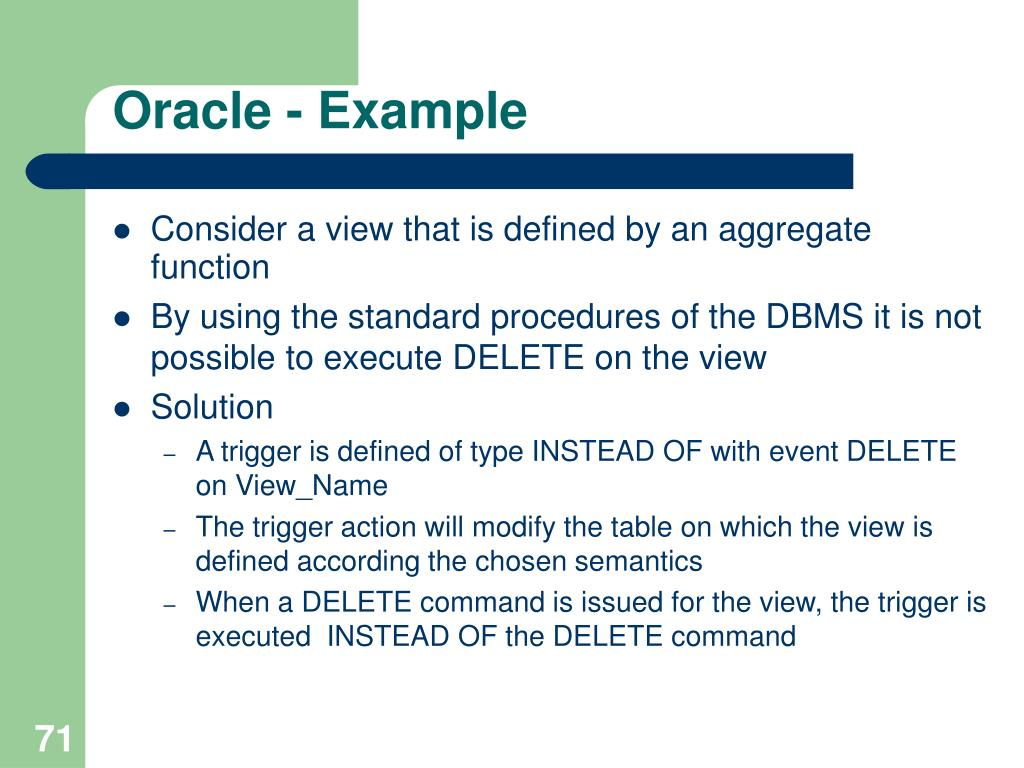 Oracle - Example