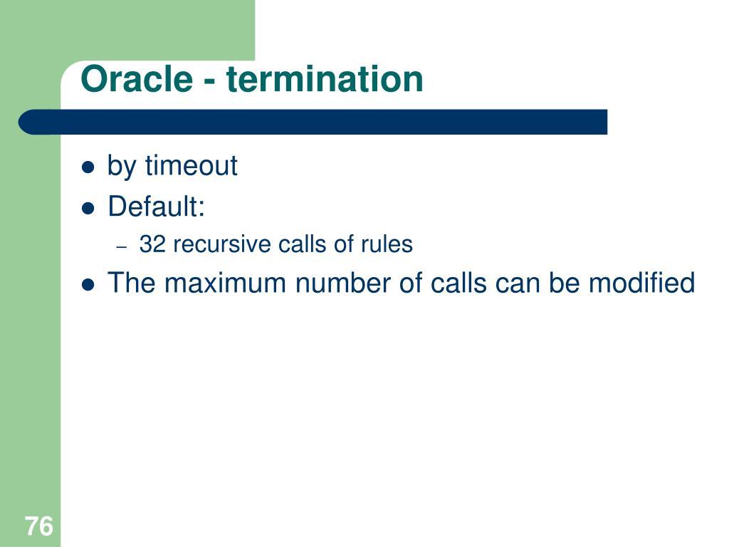 Oracle -