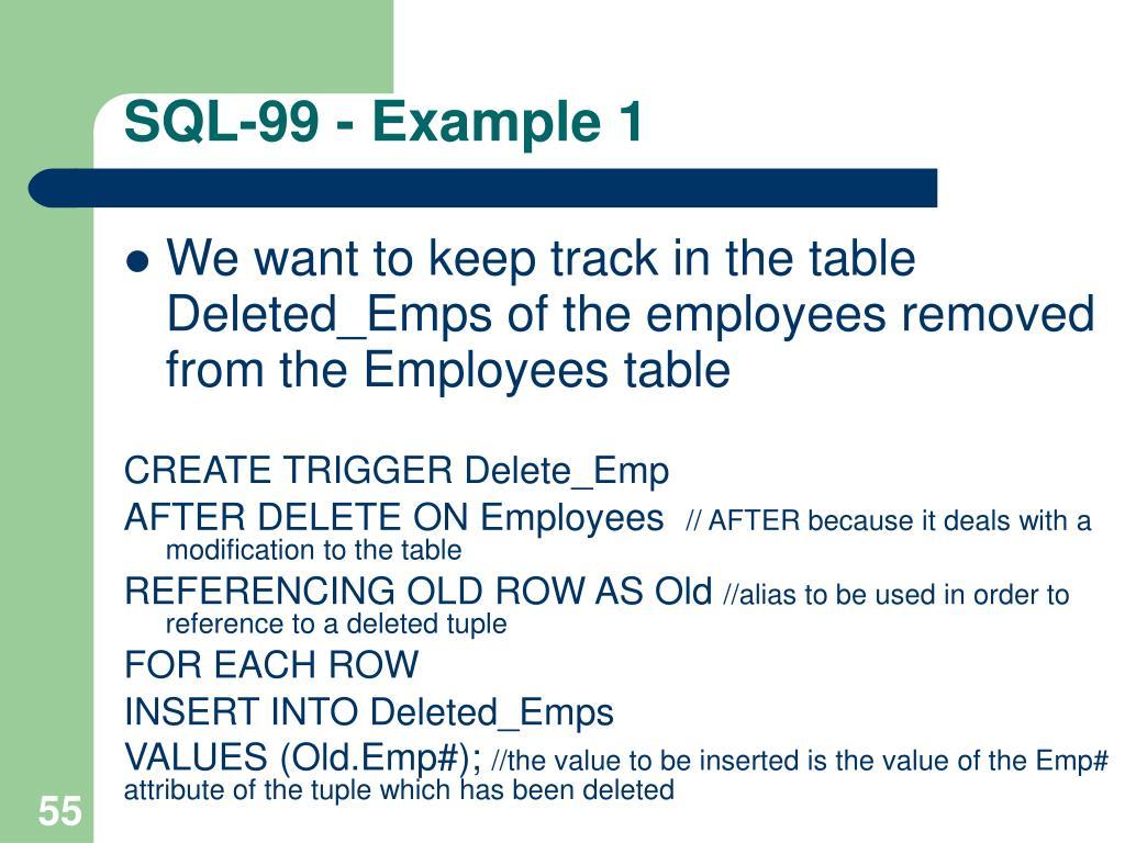 SQL-99 - Example 1