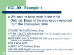 sql 99 example 1
