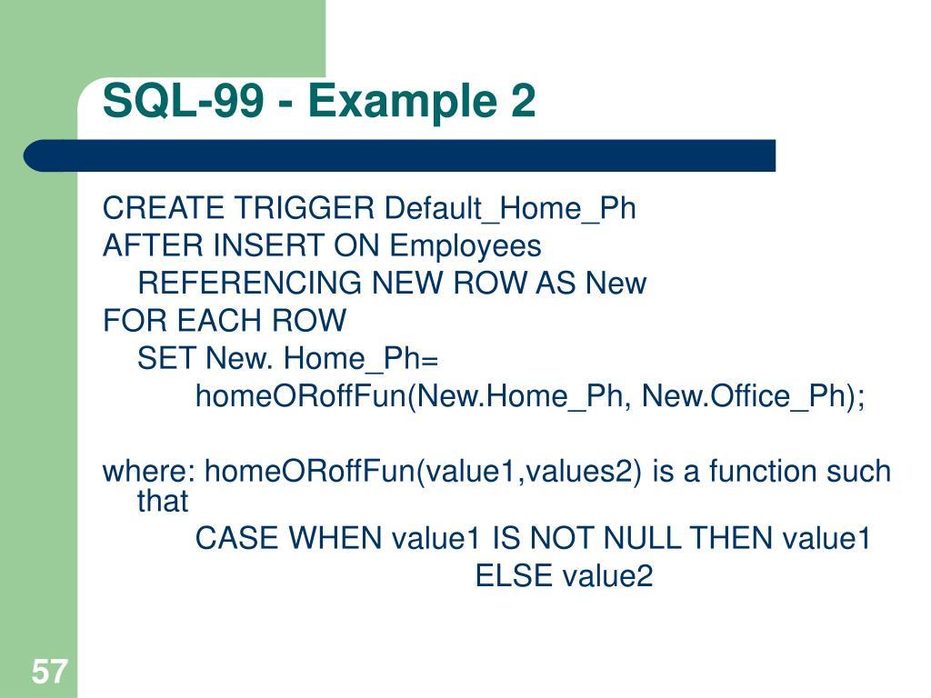SQL-99 - Example 2