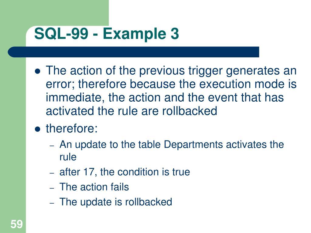 SQL-99 - Example 3