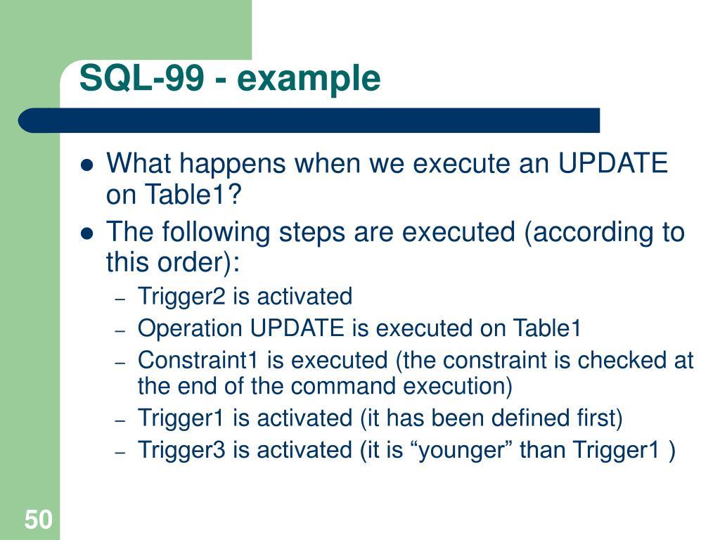 SQL-99 - example