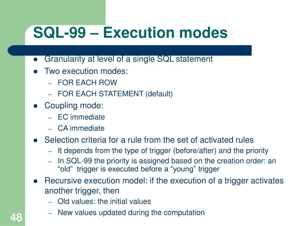 SQL-99 –