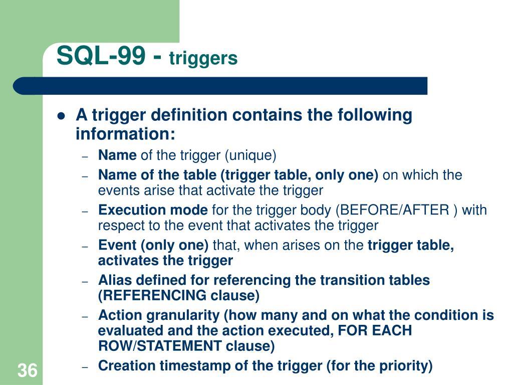 SQL-99 -