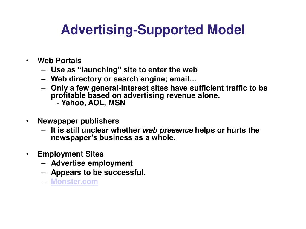 Advertising-Supported Model
