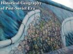 historical geography of post soviet era