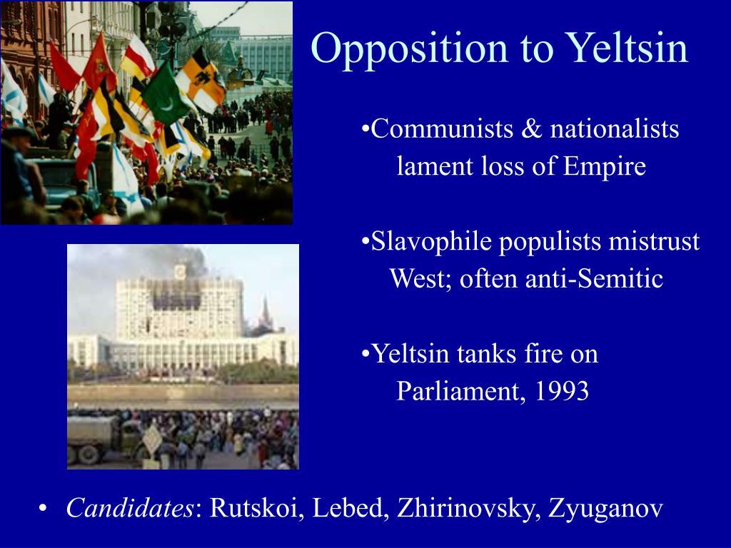 Opposition to Yeltsin