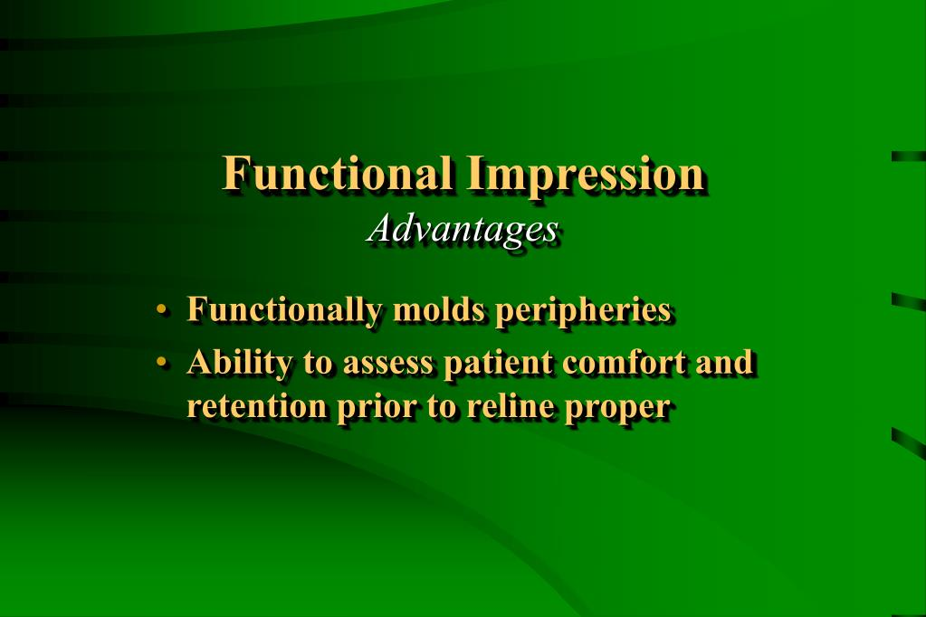 Functional Impression