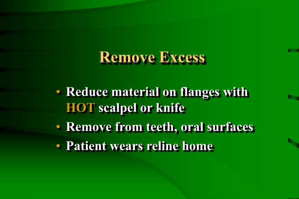 Remove Excess