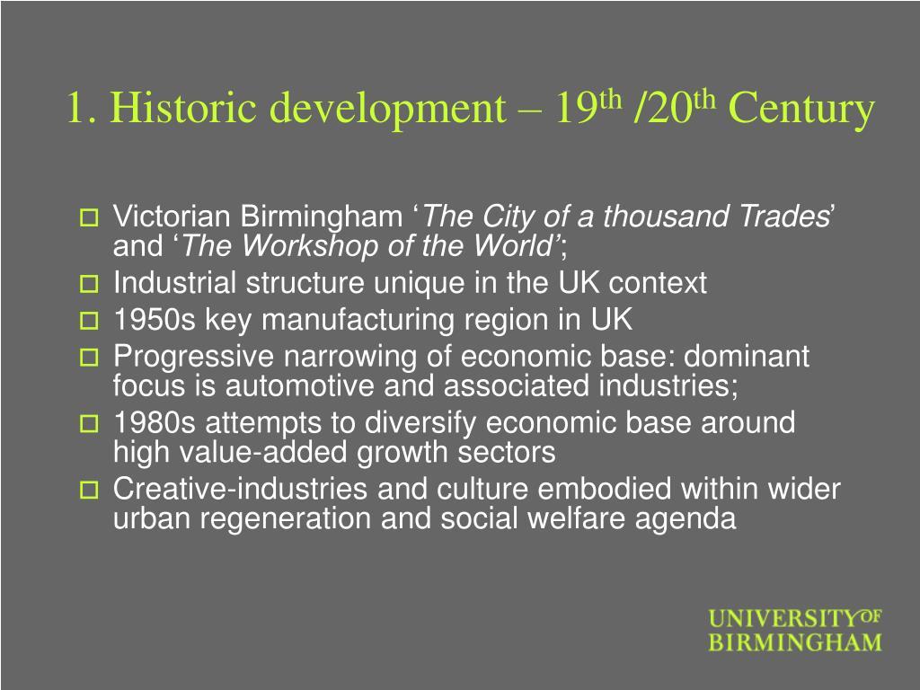1. Historic development – 19