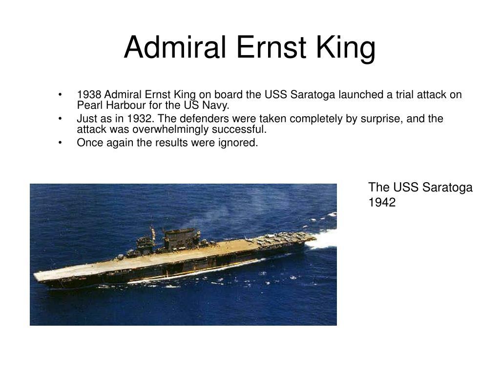 Admiral Ernst King