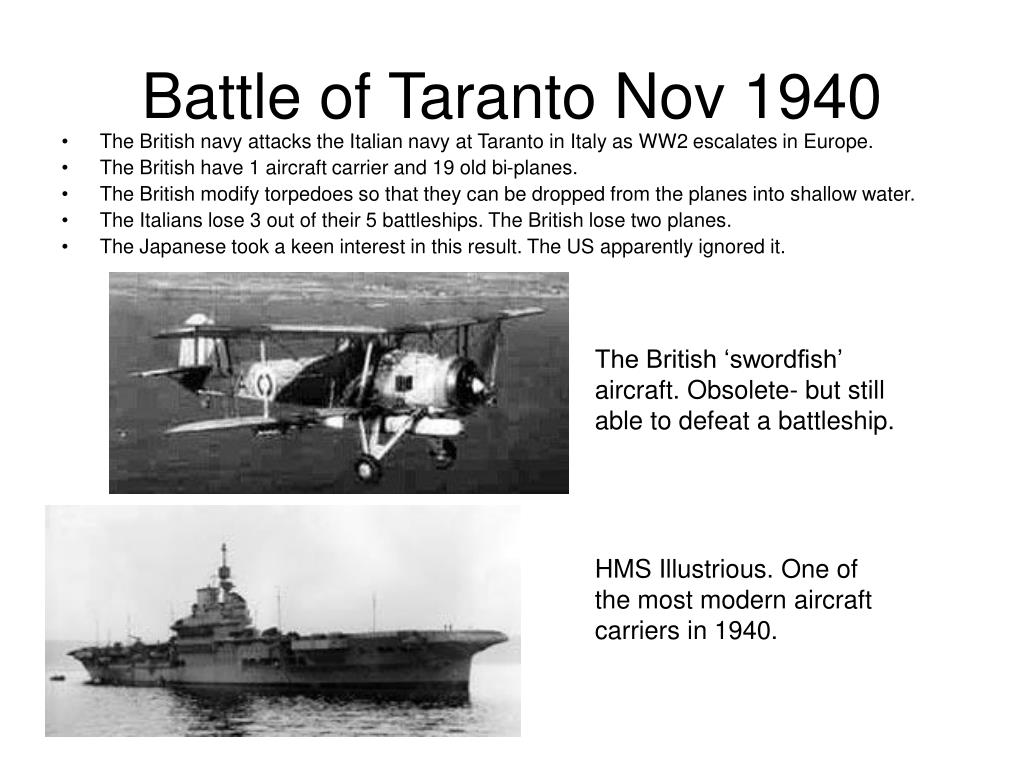 Battle of Taranto Nov 1940