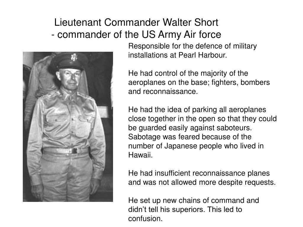 Lieutenant Commander Walter Short