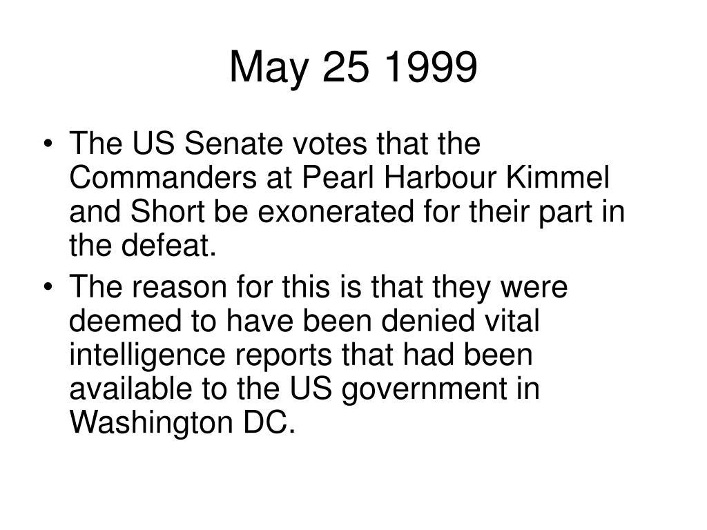 May 25 1999