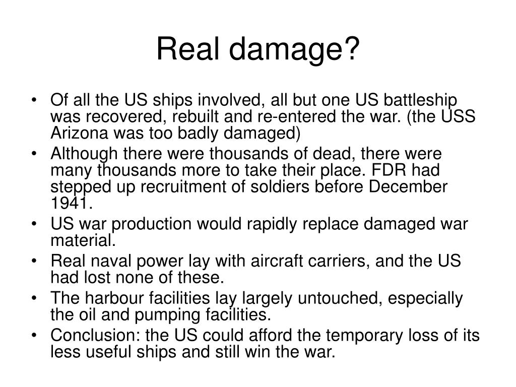 Real damage?