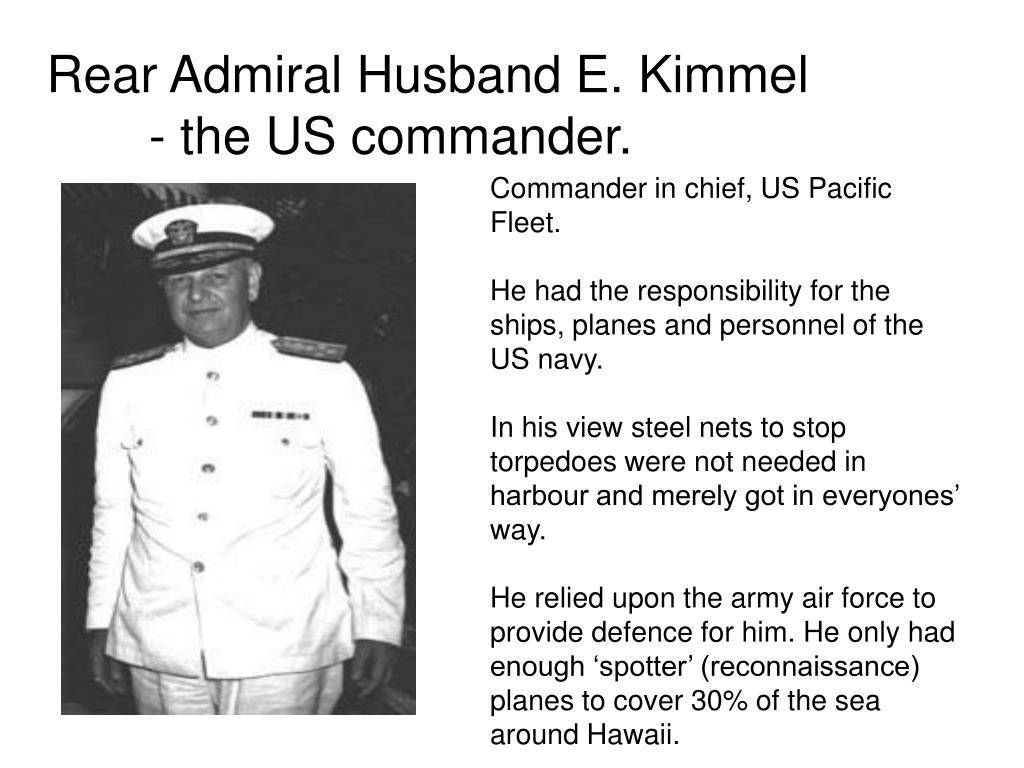 Commander in chief, US Pacific Fleet.