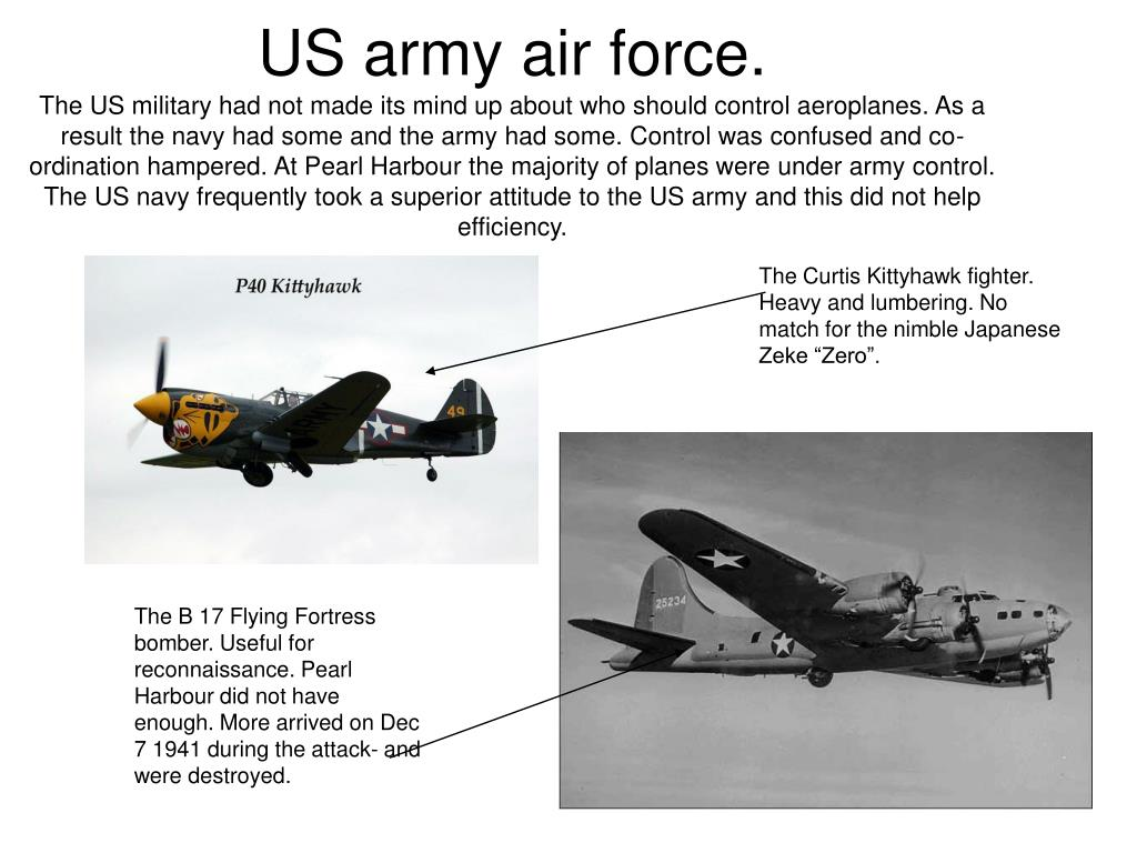 US army air force.