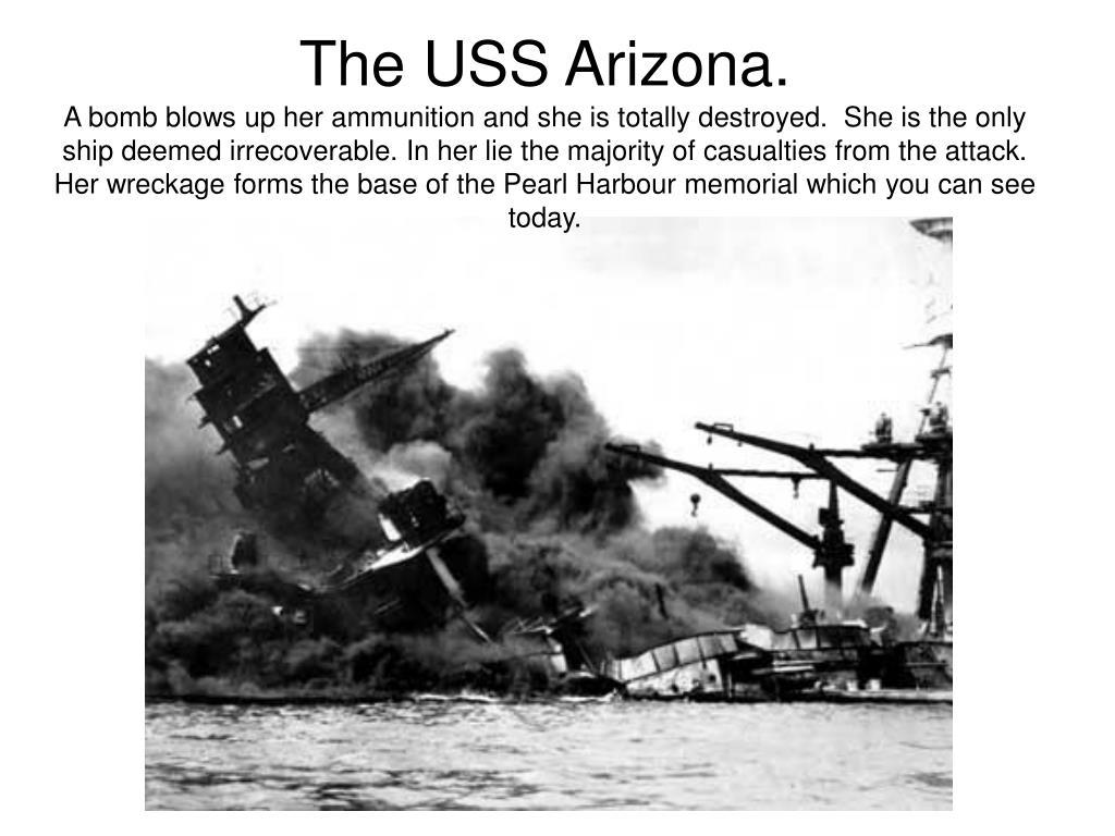 The USS Arizona.