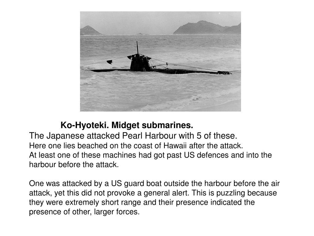 Ko-Hyoteki. Midget submarines.