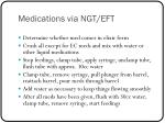 medications via ngt eft