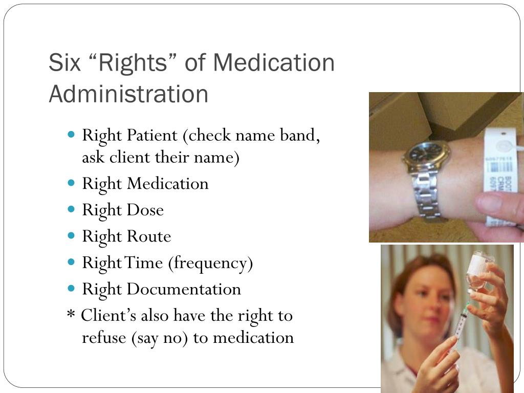 "Six ""Rights"" of Medication Administration"