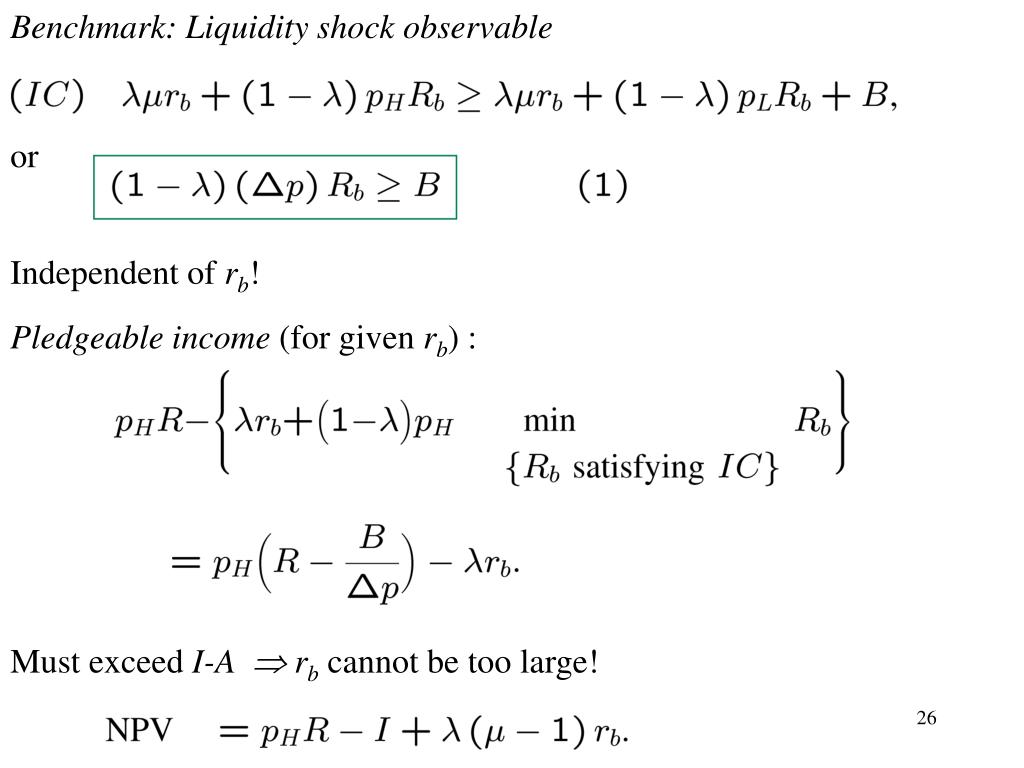 Benchmark: Liquidity shock observable