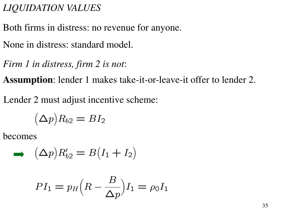 LIQUIDATION VALUES