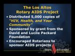 the los altos rotary aids project