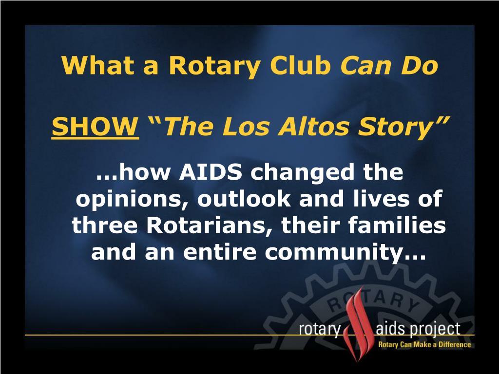 What a Rotary Club