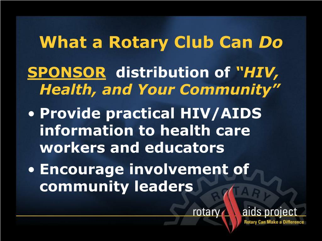 What a Rotary Club Can