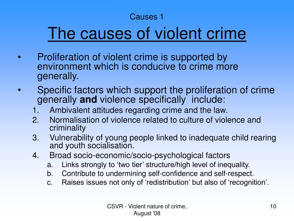 what causes crime One of the issues that inevitably arises in any discussion of crime and sentencing , and that also must be considered when discussing rehabilitation, is that of the.