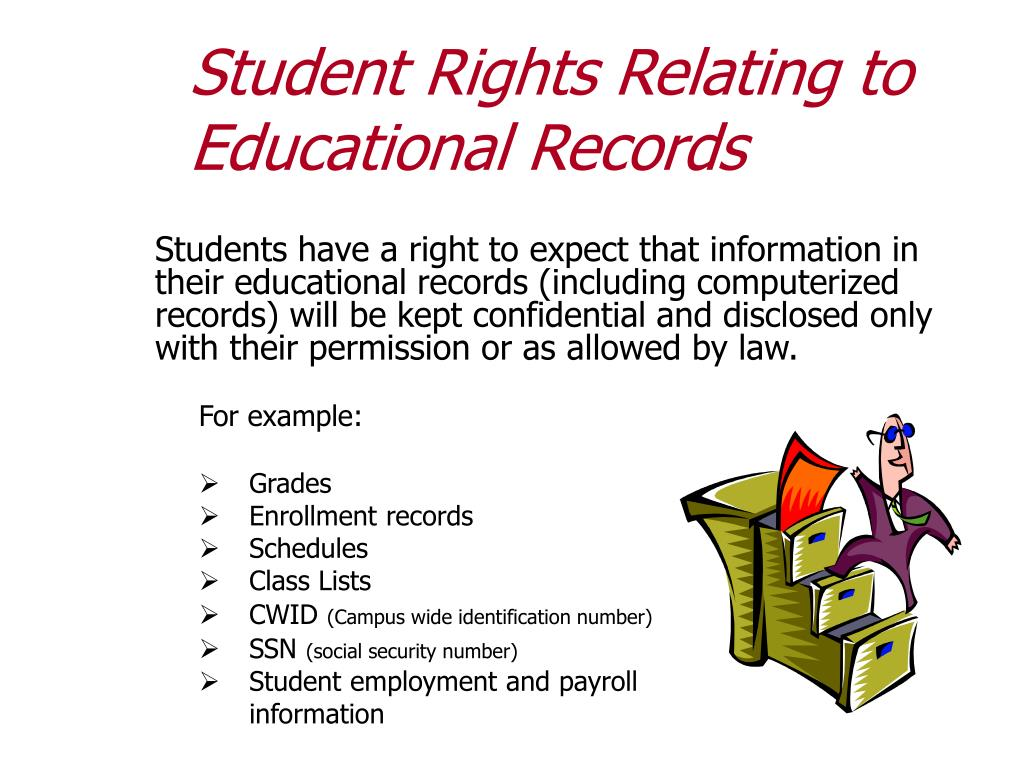 Student Rights Relating to Educational Records