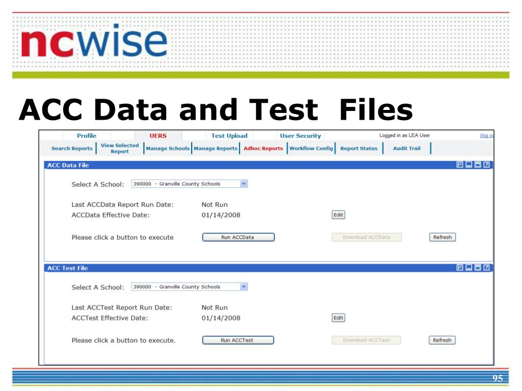 ACC Data and Test  Files
