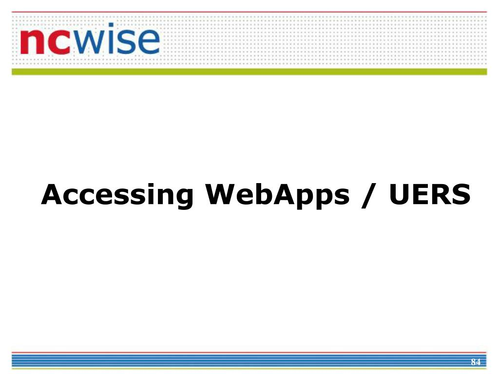 Accessing WebApps / UERS