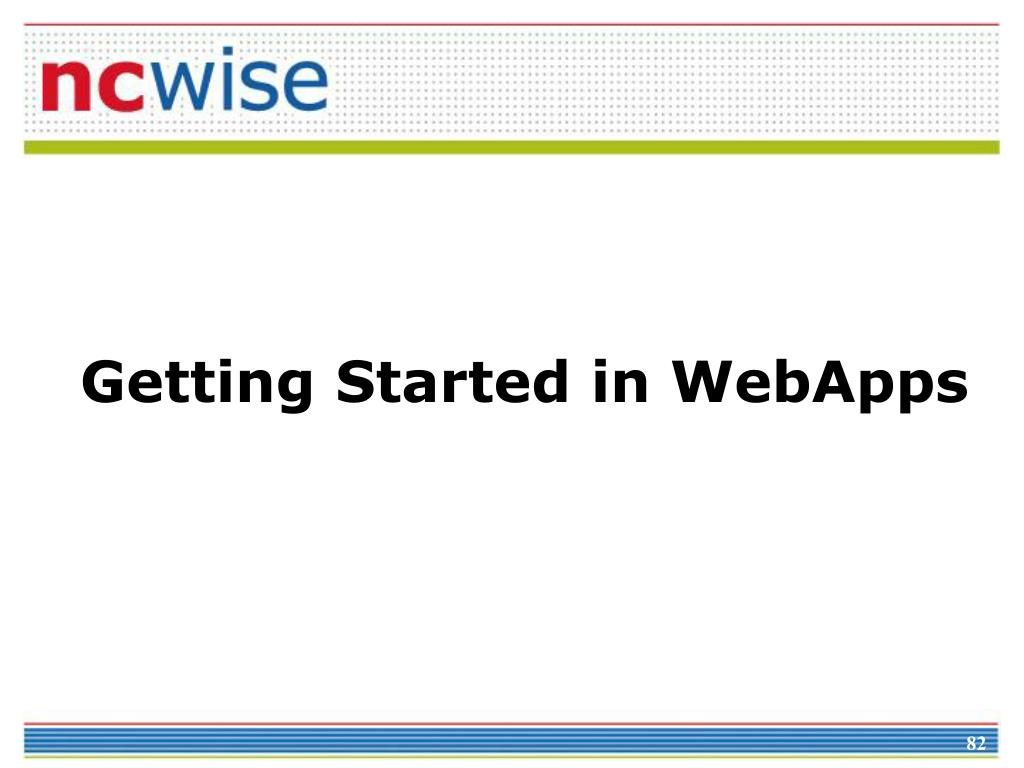 Getting Started in WebApps