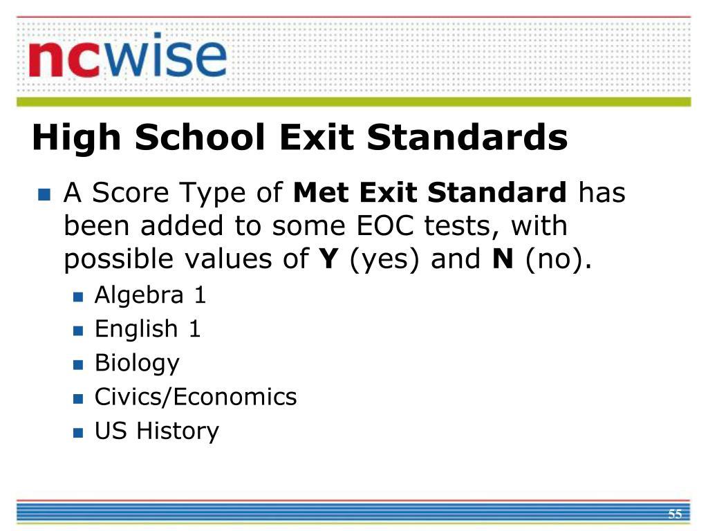 High School Exit Standards